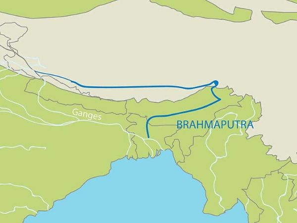bramputra river map