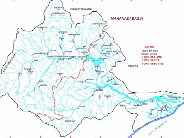 mahanadi river map