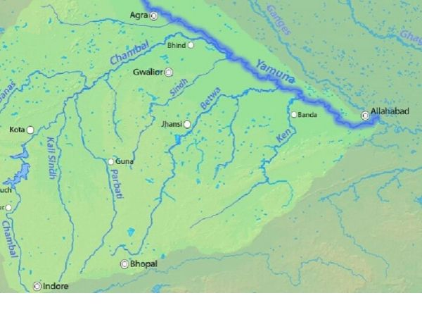 yamuna river map