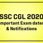 SSC CGL 2020: Exam Dates & Important Notifications, all you need to know